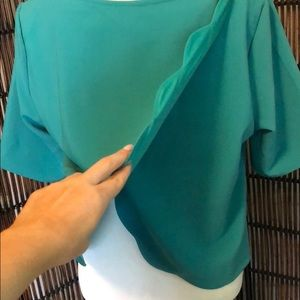 Francesca's Collections Tops - Shallot Back Turquoise Top